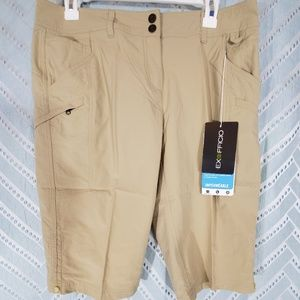ExOfficio Women's Nomad Dig'r Shorts Light Khaki 8